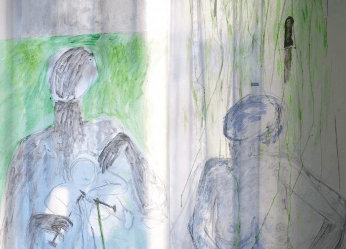 Werk aus der Ausstellung von Nejla Gür. Foto: Screenshot/Flyer