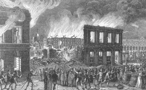 Schlossbrand 1830. Foto: Archiv Biegel