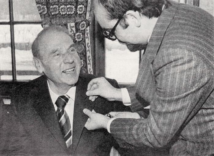Foto 1: Richard Borek II. (links) gründete 1968 die Bürgerschaft Riddagshausen. Foto: Bürgerschaft