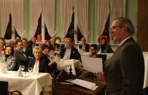 """Henning Borek, Vorsitzender der Bürgerschaft Riddagshausen, begrüßte rund 200 Gäste im Landgasthaus """"Grüner Jäger"""". Foto: Bürgerschaft"""
