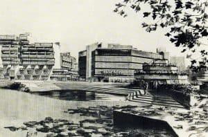 Vorschlag für die Bebauung der Georg-Eckert-Straße von Helge und Margret Bofinger. Foto: Archiv Bofinger