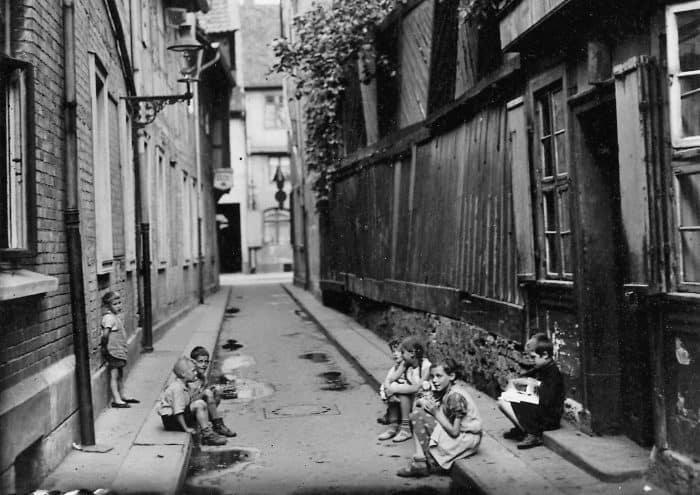 Malertwete, Fotografie um 1930 (Blick in Richtung Scharrnstraße). Foto: Stadtarchiv Braunschweig