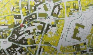 Ausschnitt aus der Karte Braunschweig 1945. Aus Deutscher Historischer Städteatlas Braunschweig. Foto: Der Löwe/Stadtarchiv