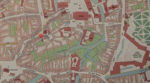 Ausschnitt aus der Karte Braunschweig 1750. Aus Deutscher Historischer Städteatlas Braunschweig. Foto: Der Löwe/Stadtarchiv