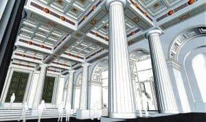 Der Eingangsbereich als Hauptvestibül, Konzept Stuhlemmer (2011). Foto: Ackers Städtebau Partner