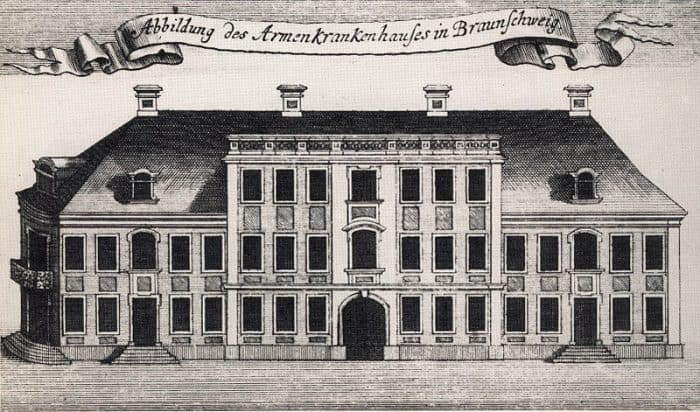 So sah das Armenkrankenhaus im 18. Jahrhundert aus. Archiv: IBR