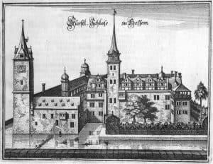 Schloss Hessen als Merian-Stich, um 1650. Foto IBR