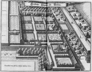 Der Lustgarten als Merian-Stich, um 1650. Foto: IBR