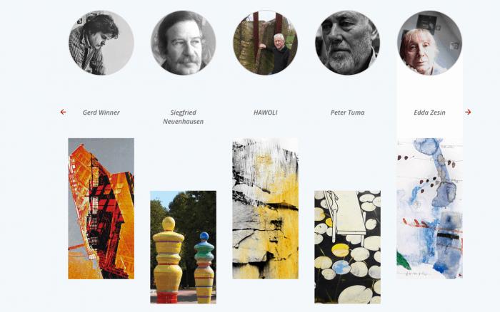 Screenshot einer Seite der Künstlerdatenbank. Foto: Der Löwe