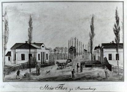 Steintor um 1820. Foto: Stadt Braunschweig