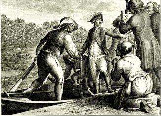 Herzog Leopold von Braunschweig geht seinem Tod entgegen. Daniel Chodowiecki. Foto: Wikipedia