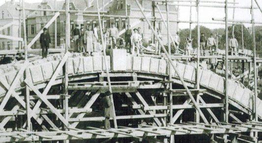 Die Bauarbeiten 1885. Foto: Stadt Braunschweig