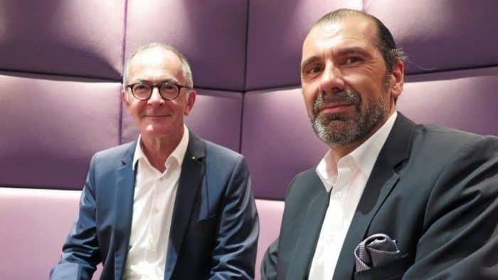 Thorsten Rinke (rechts) hat den Vorsitz des Braunschweiger Filmfest-Vereins von Edgar Merkel übernommen. Foto: Florian Arnold