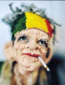 Keith Richards als Figur von Marina Schmiechen. Foto Stiftung Prüsse / Katalog