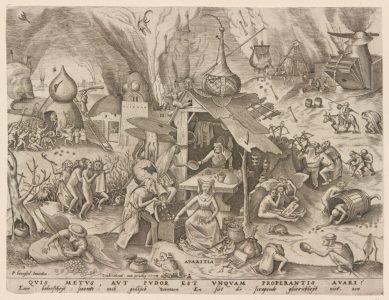 Graphik von Pieter Bruegel d. Ä. Foto: HAUM