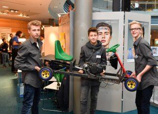 Die drei Schüler des MK entwickelten 2017 bei BioKart. Archivfoto: DBS/Andras Greiner-Napp