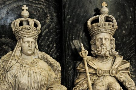 Grabplatte im Kaiserdom mit Richenza und Lothar von Süpplinfenburg. Foto: SBK/Andreas Greiner Napp