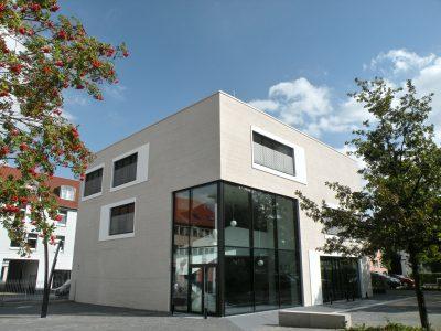 Seit 2011 steht das neue Forumsgebäude. Foto: Manfred Wildhage.