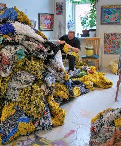 Kenneth Rasmussen im Atelier: Foto: Bifrost, Randers