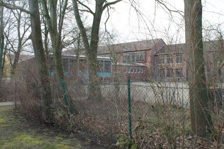 Der Maschendrahtzaun, der einst NO und Ricarda-Huch-Schule trennte. Foto: Der Löwe