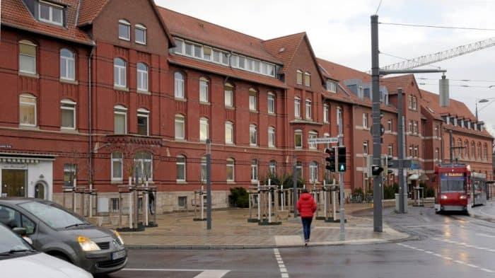 Der Platz vor dem Marienstift. Foto: Bernward Comes