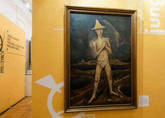 """Das Gemälde """"Neues Land"""" von Karl Hofer in der Sonderausstellung des Schlossmuseums. Foto: Schlossmuseum/M. Küstner"""