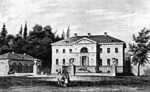 Stich der Villa Salve Hospes von L. Tacke (1823-1899). Repro: Der Löwe