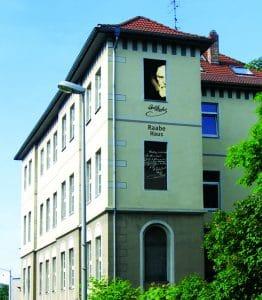 Außenansicht des Raabe-Hauses Leonhardstraße 29a. Foto: Raabe-Haus