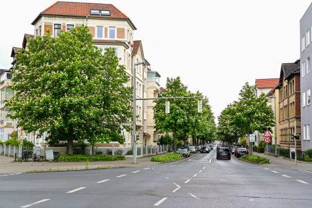 Übergang von der Ebertallee zur Kastanienallee. Foto: Andreas Greiner-Napp