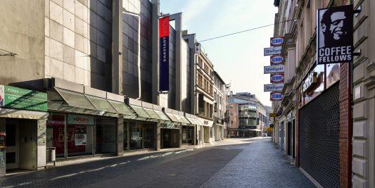 Wie ausgestorben: Schuhstraße. Foto: Andreas Greiner-Napp