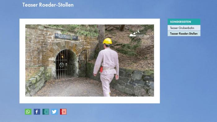 Virtueller Besuch im Roeder-Stollen auf der Homepage des Weltkulturerbes Rammelsberg. Screenshot: Der Löwe