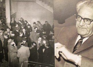 Der Remer-Prozess in Braunschweig sorgte für Aufsehen (links). Generalstaatsanwalt Fritz Bauer (rechts). Fotos: IBR