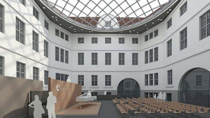 So könnte das Forum des Braunschweigischen Landesmuseums nach der Sanierung aussehen. Die Visualisierung stammt vom Architekturbüro Dierks und Kramer Architekten. Foto: Patrik Dierks / Dierks & Cramer