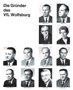 Irma Dziomba und ihre Mitgründer des VfL Wolfsburg: Foto: VfL Wolfsburg
