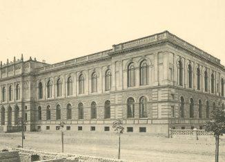 Das Hauptgebäude der TU im Jahr 1881. Foto: Universitätsarchiv/TU