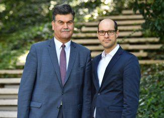 Axel Richter (links) geht, Friedemann Schnur (rechts) kommt. Foto: Die Braunschweigische Stiftung / Andreas Greiner-Napp