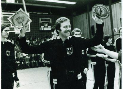 Jürgen Wohlers vor seinem letzten Spiel für die deutsche Nationalmannschaft. Foto: Archiv Wohlers