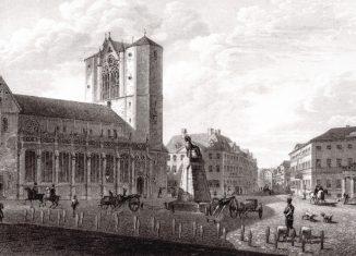 Eine historische Ansicht des Burgplatzes. Repro: IBR
