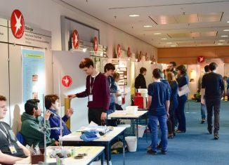 Blick auf die Forschungsstände in den Räumen der Braunschweigischen Landessparkasse 2020. Foto: Die Braunschweigische Stiftung/Andreas Greiner-Napp