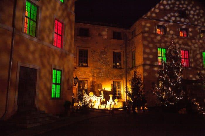 Schlosshof zur Weihnachtszeit. Foto: Verein Rettung Schloss Blankenburg