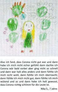 Zeichnung von Nika mit eindrucksvollem Text. Foto: Im·Puls·Initiative