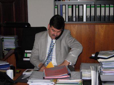Ein Foto aus der Anfangszeit der Stiftung: Axel Richter bei der Arbeit. Foto: DBS