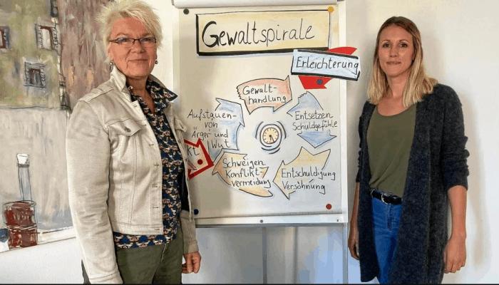Beate Ulrich (links) und Vanessa Reupke von der Jugendhilfe Wolfenbüttel e.V. Foto: Jugendhilfe Wolfenbüttel e.V.