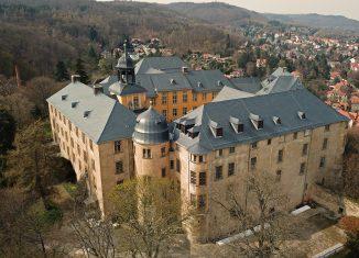 Blick auf das Große Schloss Blankenburg mit der sanierte Dachlandschaft. Foto: Verein Rettung Schloss Blankenburg