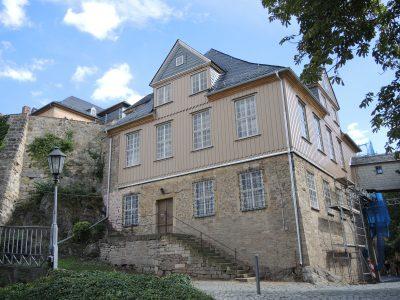 Das sanierte Verwalterhaus mit rekonstruierter Fassade. Foto: Verein Rettung Schloss Blankenburg