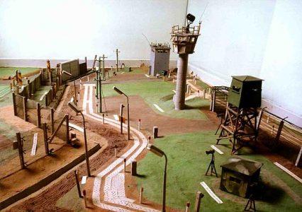 Modell der Grenzanlage. Foto: Zonengrenz-Museum