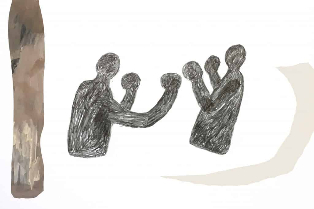 Boxerpaar von Susanne Hesch.