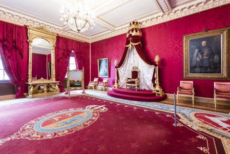 Der Thronsaal wurde bis ins Detail weitgehend originalgetreu rekonstruiert. Foto: Schlossmuseum/Marek Kruszewski