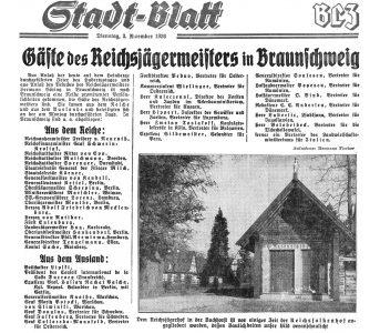 Bericht im Stadtblatt der Braunschweigischen Landeszeitung vom 3. November 1936. Foto: Archiv Wetterau