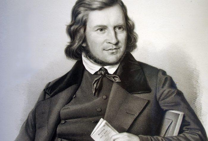 Hoffmann von Fallersleben, 1845. Foto: Hoffmann-von-Fallersleben-Museum im M2K, Stadt Wolfsburg